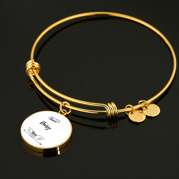 Engraved Luxury Bangle Pendant