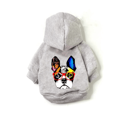 Grey Frenchie Hoodie Sweater