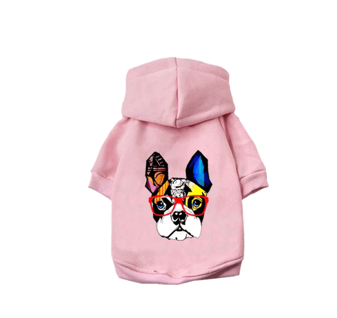 Pink Frenchie Hoodie Sweater