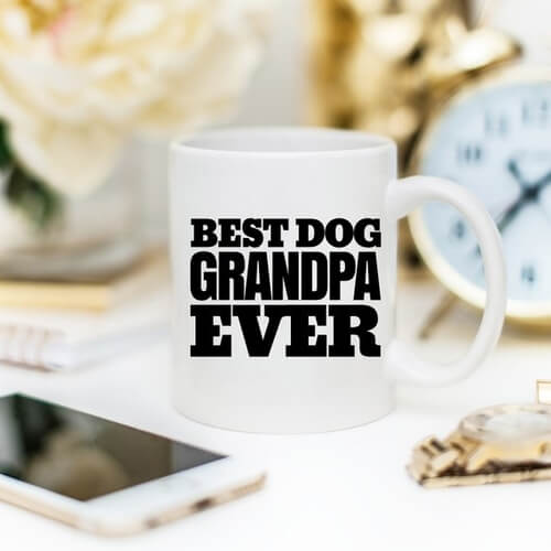 'Best Dog Grandpa Ever' Mug