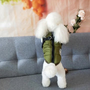 Dark Green Puffer Harness Jacket