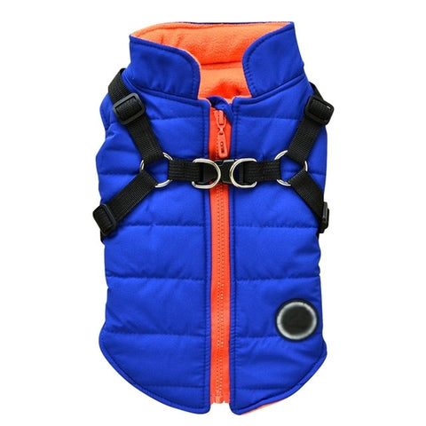 Blue Rise Puffer Harness Jacket