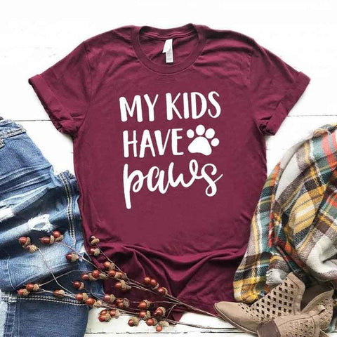 My Kids Have Paws Fur Mama T-shirt
