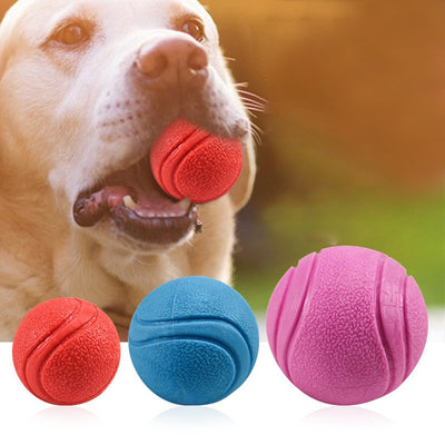 Indestructible Solid Rubber Ball Chew