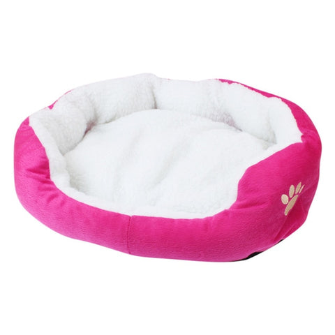 Plush Cozy Dog Bed