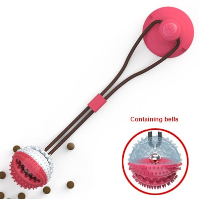Silicon Suction Cup Tug dog toy