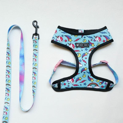 Blue Unicorn Dog Harness