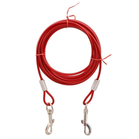 Steel Wire Pet Leashes For Two Dogs 3 Colors Anti-Bite Tie