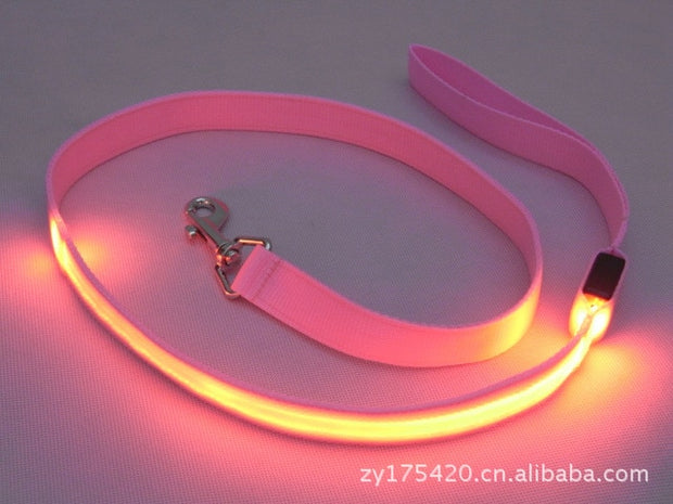 Night LED Solid Color Dog Leash