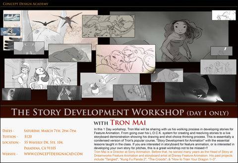 The Story Development Workshop (Day 1 only) with Tron Mai