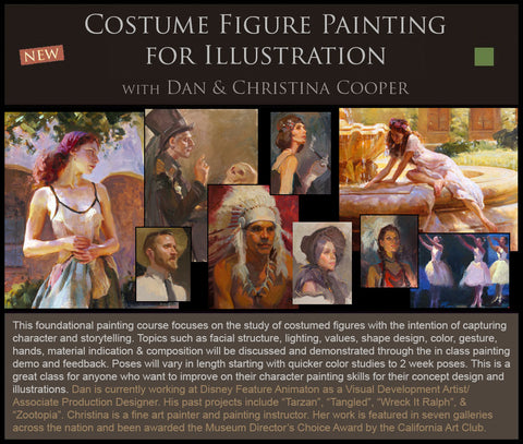 Costumed Figure Painting for Illustration with Dan & Christina Cooper