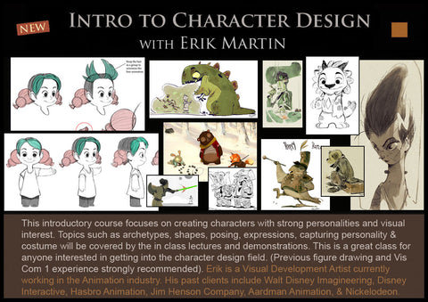 Intro to Character Design with Erik Martin