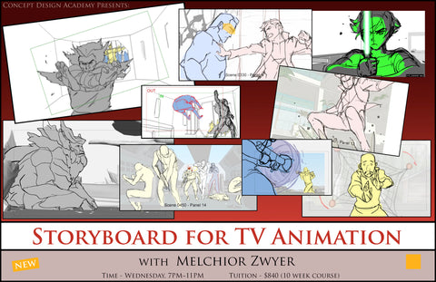 Storyboard for TV Animation with Melchior Zwyer