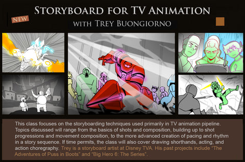 Storyboard for TV Animation (SAT) with Trey Buongiorno