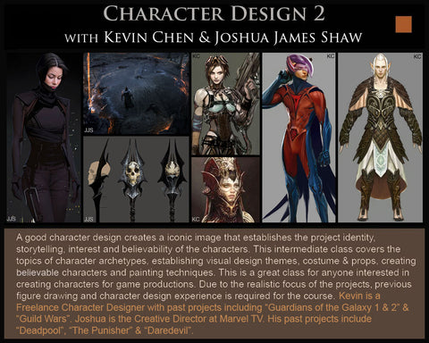 Character Design 2 with Kevin Chen & Joshua James Shaw