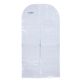 37 Inch Costume Clear Plastic Garment Bag with Pockets for Dance Competitions