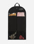 43 Inch Black Breathable Garment Bag with 3 Zipper Pockets