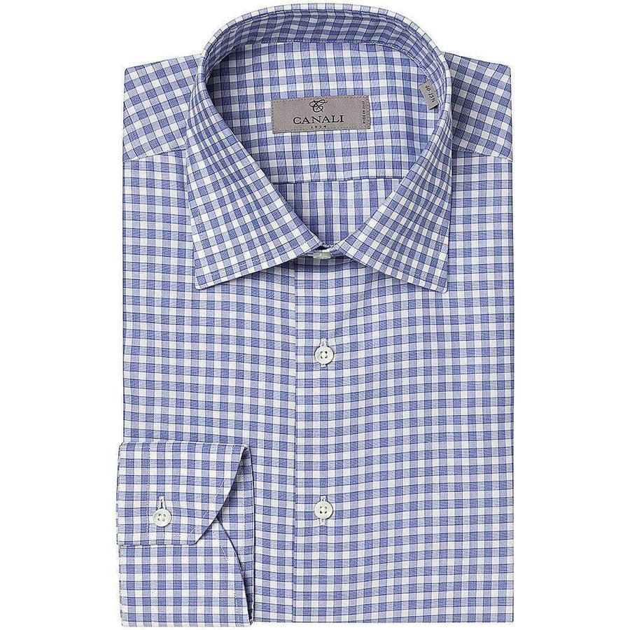 Canali Simple Check Shirt