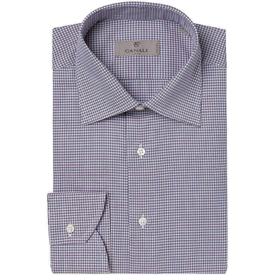 Canali Houndstooth Check Shirt