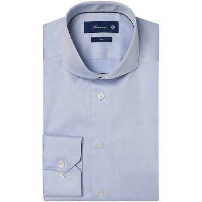 Henry Bucks-Henry Plain Twill Slim Fit SC Cotton Shirt-Henry Bucks