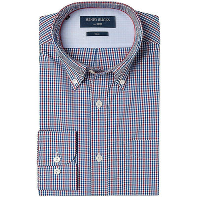 HB 1890 Check Single Cuff Cotton Shirt
