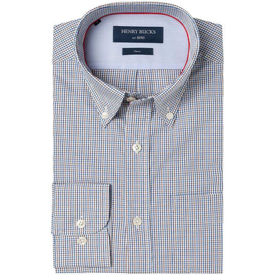 HB 1890 Tattersall Check Single Cuff Shirt *Buy 1, Get 2nd 50% Off