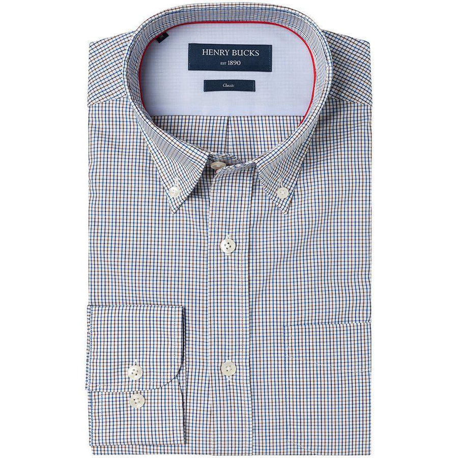 Henry Bucks-HB 1890 Tattersall Check Single Cuff Shirt-Henry Bucks