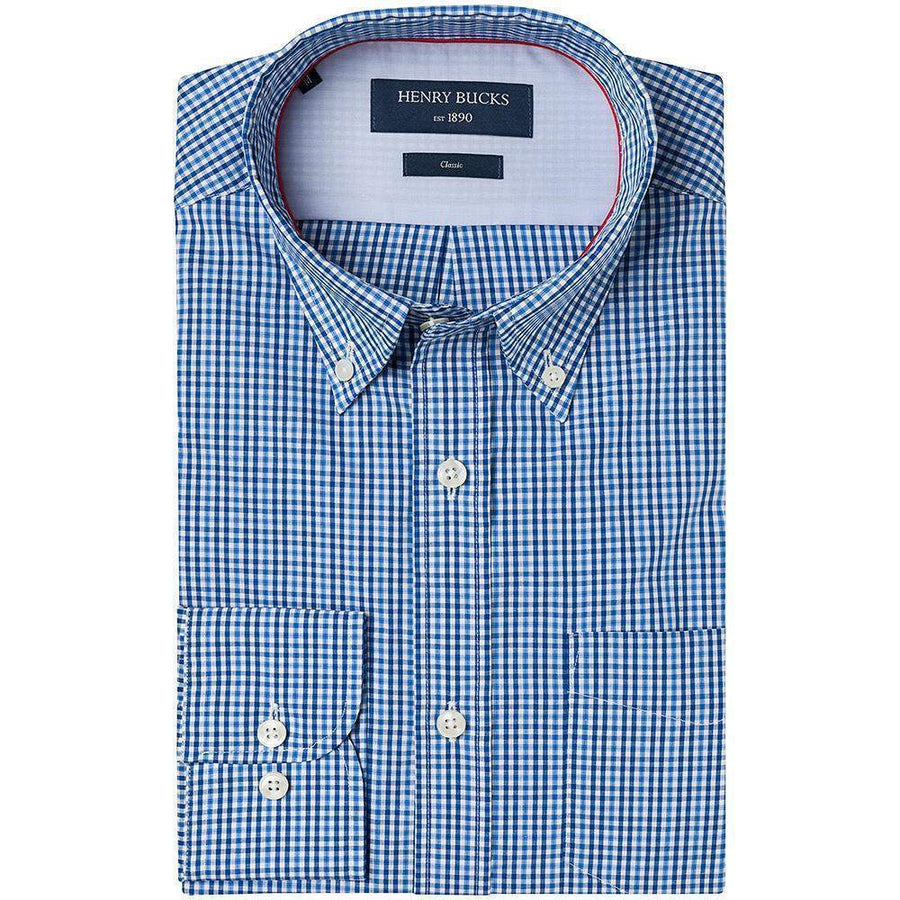 Henry Bucks-HB 1890 Classic Check Single Cuff Shirt-Henry Bucks