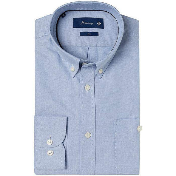 Henry Bucks-Henry Oxford Button-Down Cotton Shirt-Henry Bucks