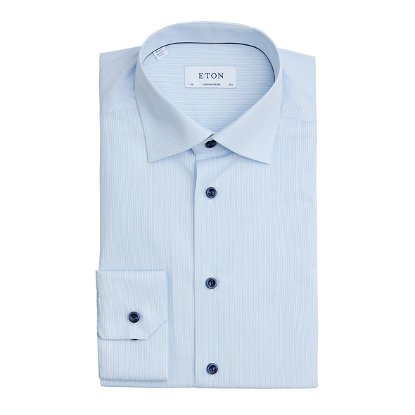 ETON FEATHER STRIPE SHIRT
