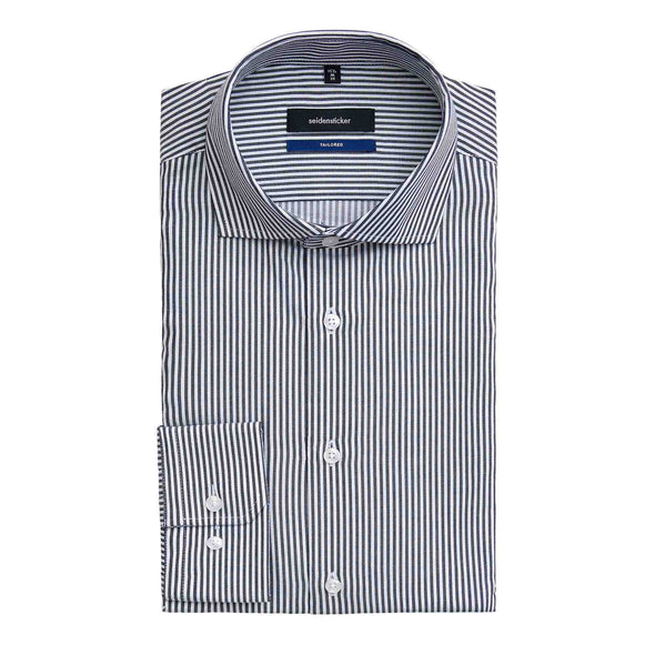 SEIDENSTICKER BLACK & WHITE STRIPE SHIRT