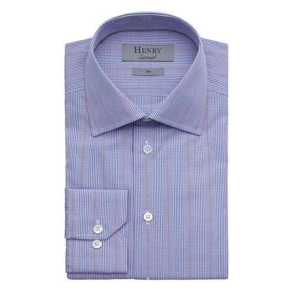 HENRY SARTORIAL MULTI CHECK SHIRT