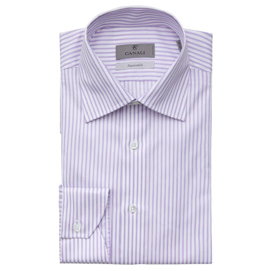 CANALI IMPECCABILE STRIPE DRESS SHIRT