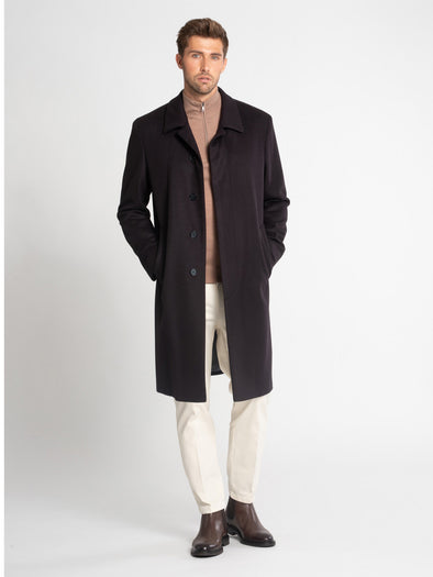 SCHNEIDERS FLY FRONT COAT NAVY