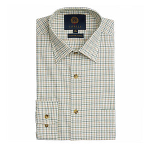 VIYELLA LIGHT OLIVE TATTERSALL SHIRT