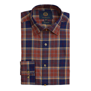 VIYELLA RUST GROUND PLAID SHIRT