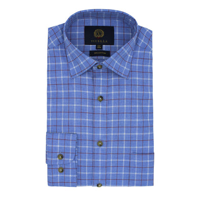 VIYELLA GROUND CHECK SHIRT BLUE