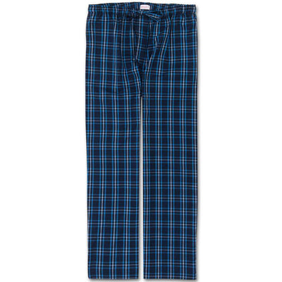 Derek Rose Check Lounge Brushed Cotton Trousers