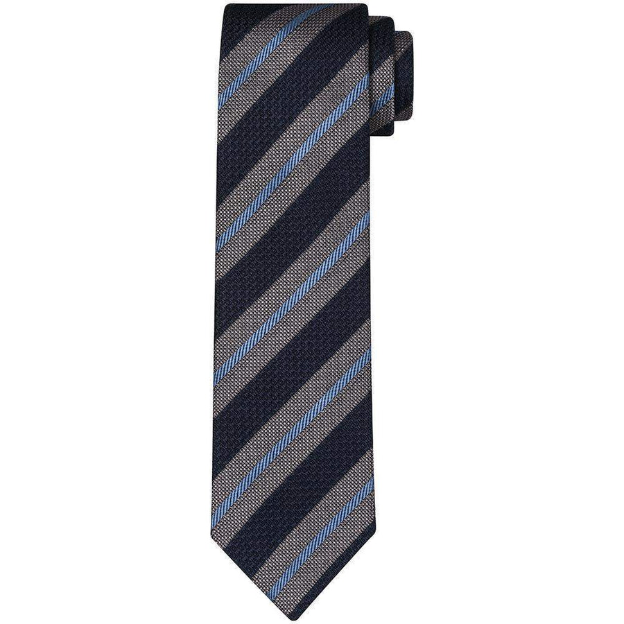 Drakes Regimental Stripe Silk Tie