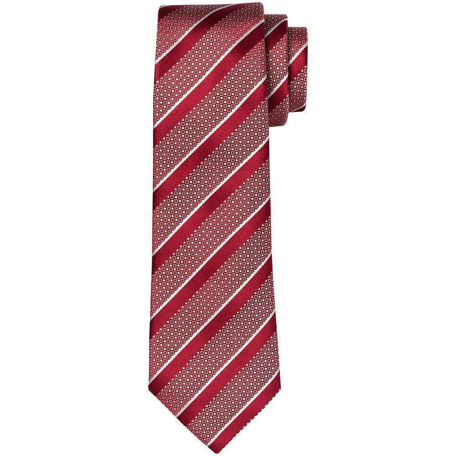 Canali Diamond Stripe Silk Tie