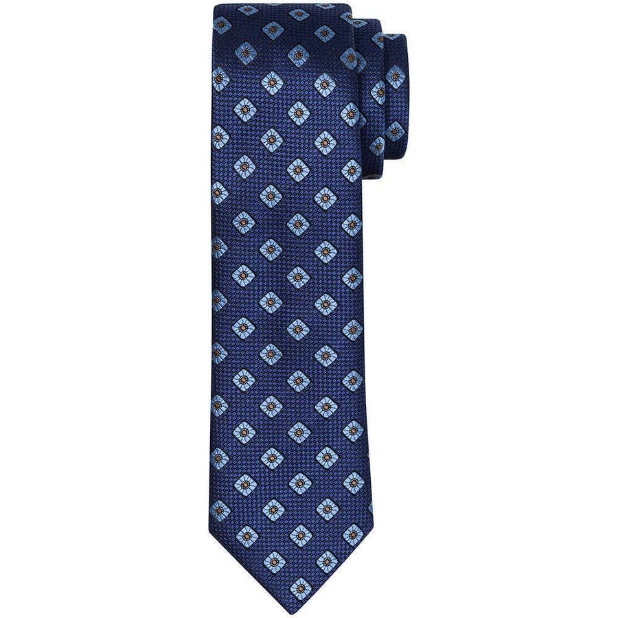 Canali Diamond Medallion Silk Tie
