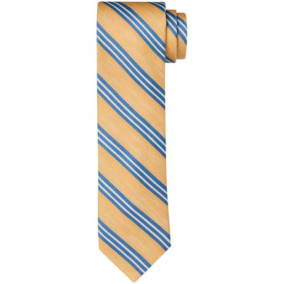 Breuer Watercolour Stripe Silk & Linen Tie