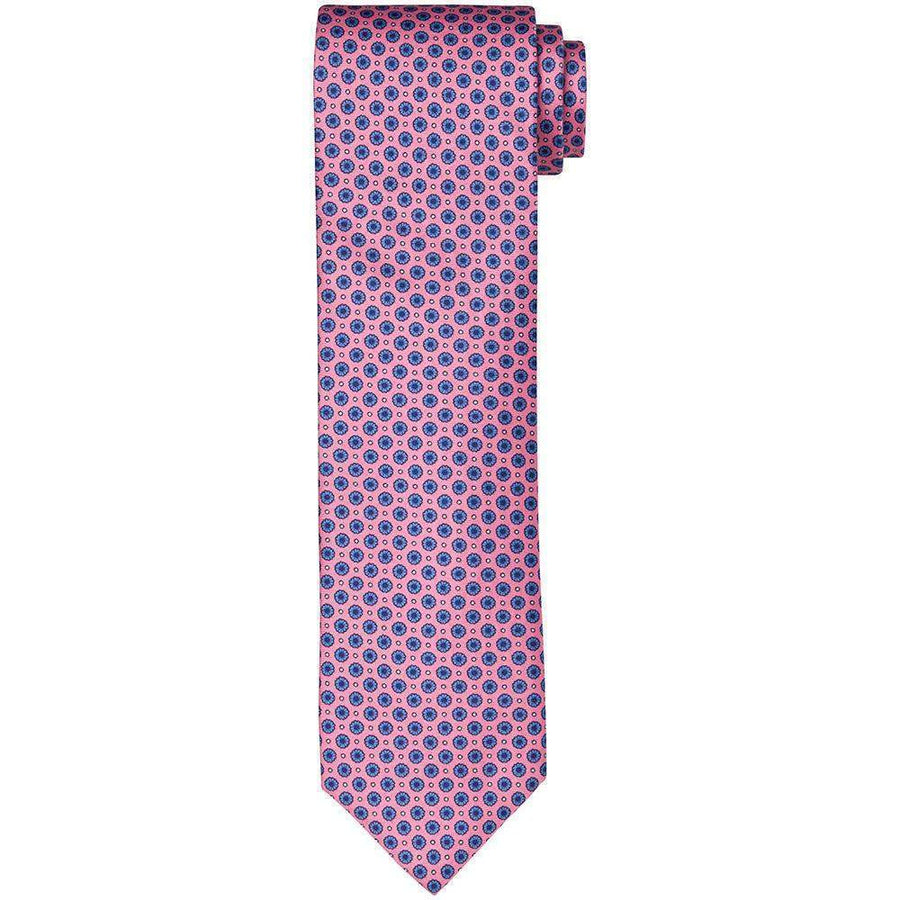 Breuer Small Floral Printed Silk Tie