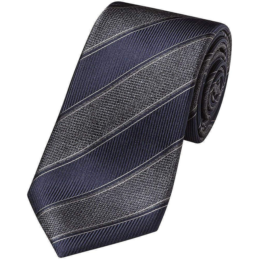 Canali Winter Club Stripe Silk Tie