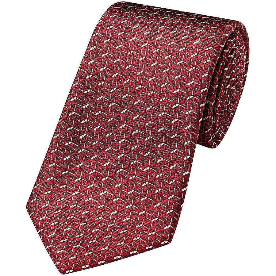 Canali Optical Weave Silk Tie
