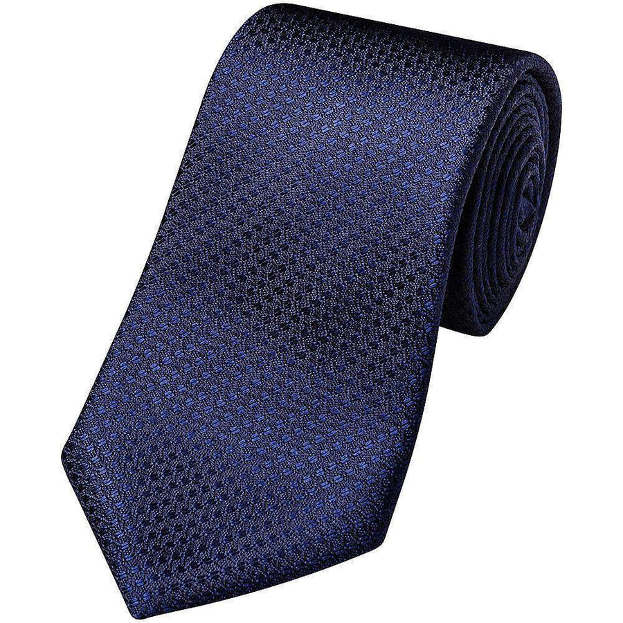 Canali Textured Plain Silk Tie