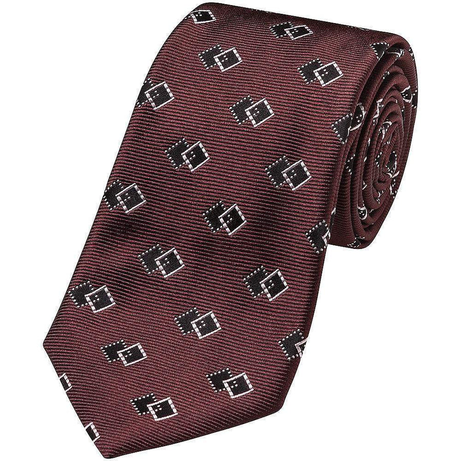 Canali Twin Diamond Silk Tie