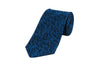 ASCOT BLUE EMBROID SILK TIE