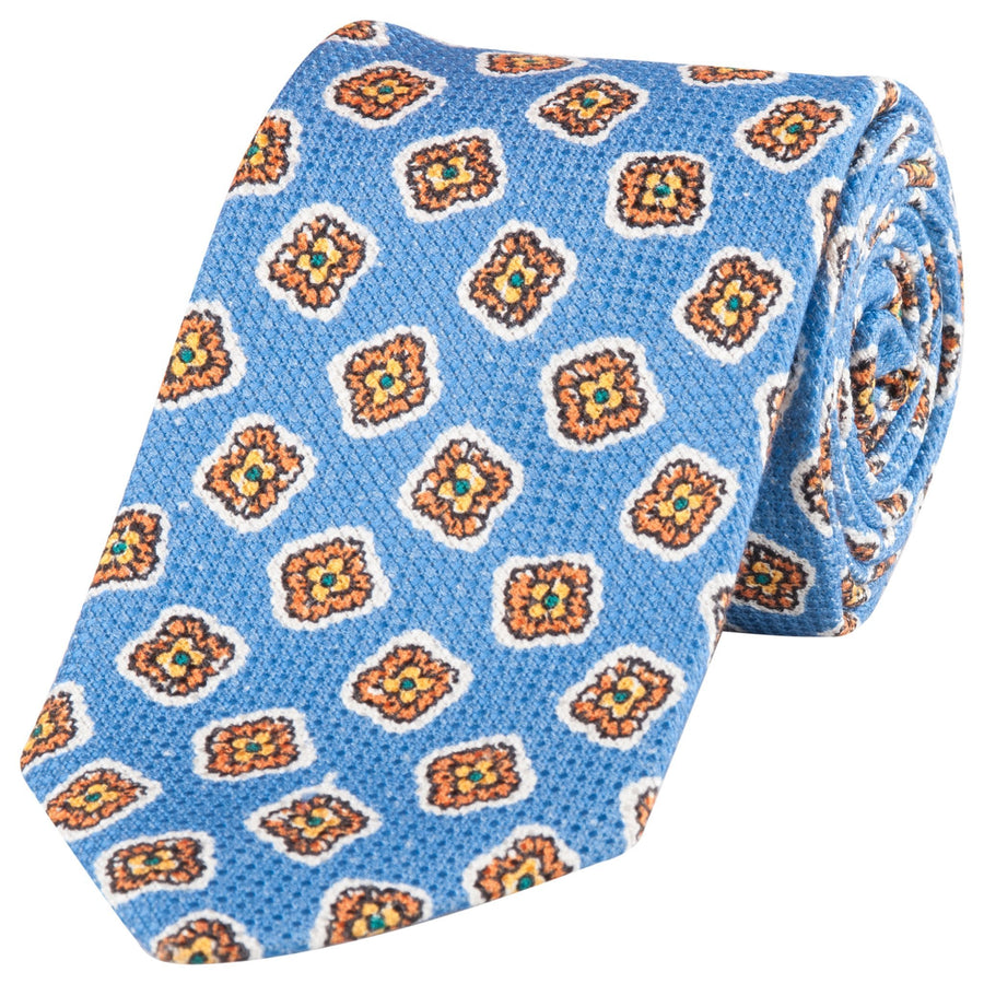 DRAKES SQUARE FLORAL TIE