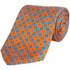HENRY BUCKS CIRCLE PRINT SILK TIE